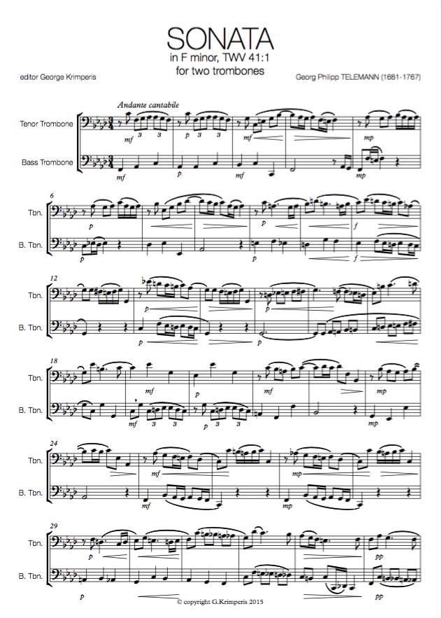 Sheet Music – George Krimperis